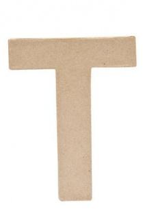 """Pappmache Buchstabe """" T"""" stehend zum basteln kreativ Rico Design Idee"""