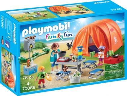 Playmobil Family Fun Familien Camping Konstruktionsspiel 70089