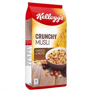 Kelloggs Crunchy Müsli Choco und Nuts knusprige Cerealien 1500g