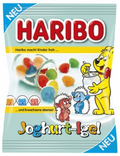 Haribo süße bunte 3D Joghurt-Igel in 5 verschiedenen Farben 175g