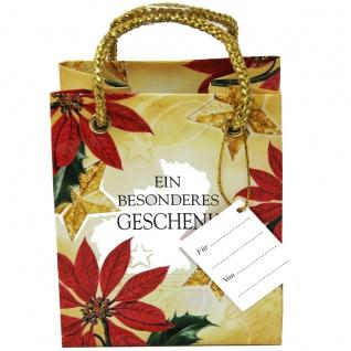 Weihnachtstüten mit Aufdruck Ein Besonders Geschenk 12x10cm 5 Stück