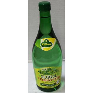 Kühne SUROL 7 Kräuteressig mit feiner Kräuternote (0, 75l Glasflasche)