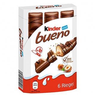 Kinder bueno 6 einzeln verpackte Waffel Riegel mit Füllung 129g