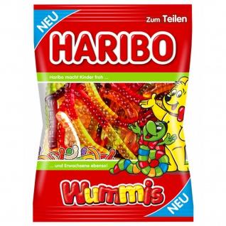 Haribo Wummis Fruchtgummi Würmer mit verschiedenen Geschmäcken 175g