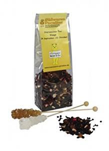 Sternzeichen Tee Waage mit Kandiszucker Erdbeer Sahne Tee 100g