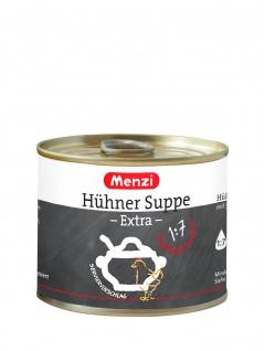 Menzi wärmende, klarende glutenhaltige Hühnersuppe Extra 200ml