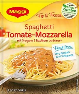 Maggi fix & frisch, Spaghetti Tomate-Mozzarella, 40 g Beutel, ergibt 3 Portionen