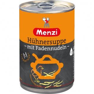 Menzi Hühnersuppe mit Fadennudeln 1 zu 1 konzentriert 400 ml
