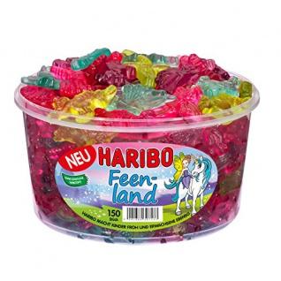 Haribo Feenland, Gummibärchen, Fruchtgummi, 150 Stück, 1200g Dose 2er Pack