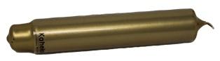 Stabkerze oder Leuchterkerze Kerze von Kaheku in der Farbe Gold