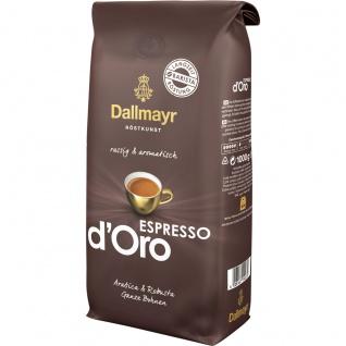 Dallmayr Espresso d Oro Kaffee ganze Bohnen kräftiges Aroma 1000g