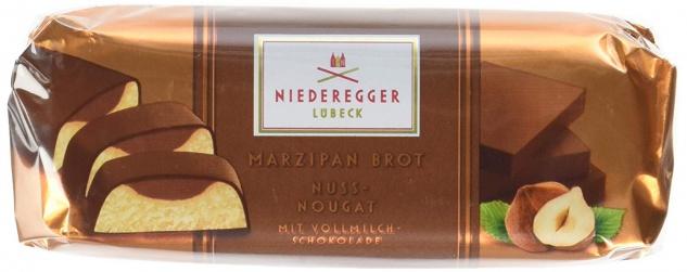 Niederegger Gefülltes Marzipan Brot mit Nuss Nougat 75g 4er Pack