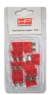 Stecksicherung 10 Amp. Farbe Rot, Inh. 10 Stk. 81530