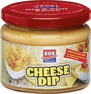 XOX Cheese Dip cremig würziger Käsege mit scharfen Jalapenos 290ml
