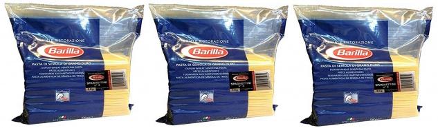Barilla Basta Spaghettini Nummer 3 Hartweizennudeln 5000g 3er Pack