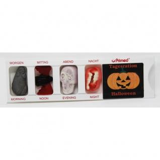 Tablettenbox Halloween Kürbis mit Fruchtgummi Scherzartikel 25g