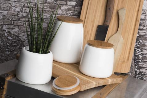 Vorratsdose Sandra Rich Serie STORAGE Bambus Deckel Porzellan 11cm