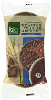 BioZentrale Bio Reiswaffeln Vollmilch, 6er Pack (6 x 100 g) - Bio