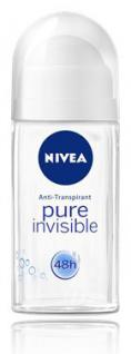 Nivea Roll-On Woman Pure Invisible 50ml, 6er Pack (6x50ml) - Vorschau