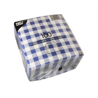 Servietten blau weiß 1 lagig von Papstar Serie Economy 100 Stück