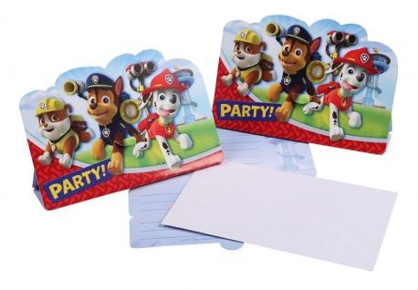 8 Einladungskarten Paw Patrol
