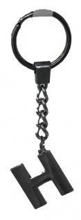 Schlüsselanhänger Taschenanhänger Buchstabenform H in silber