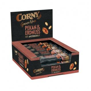 Corny Ganze Nuss Pekan und Erdnuss mit Ahornsirup 40g 15er Pack
