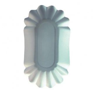 250 Schalen, Pappe oval 11 cm x 19, 5 cm x 3, 2 cm weiss