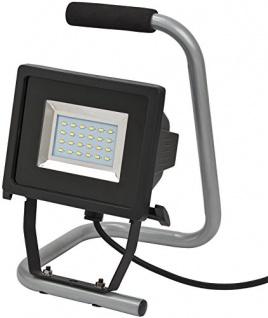 Brennenstuhl mobile SMD-LED-Leuchte / LED Strahler für außen und innen (Außenstrahler IP44, LED Fluter mit 24 super hellen SMD-LEDs) Farbe: schwarz