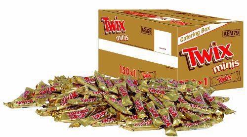 Twix Minis, 1 Packung mit 150 Riegeln (1 x 3 kg) - Vorschau