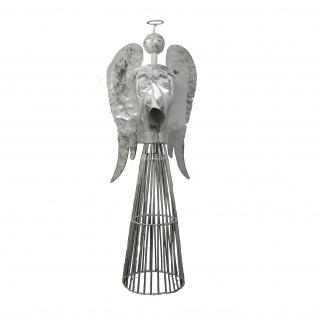 Engel Metall weiß silber 25x14x55 cm Jinfang - Vorschau