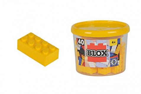 Simba 104118857 - Blox Steine in Dose, Konstruktionsspielzeug, 40, gelb