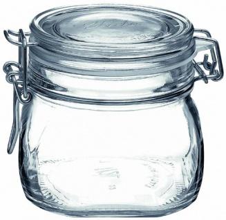 Bormioli Rocco Bügelverschlussglas Fido mit Glasdeckel 500ml 1 Stück