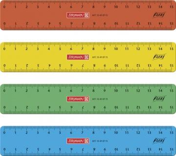 Lineal Flexi bunt 15cm