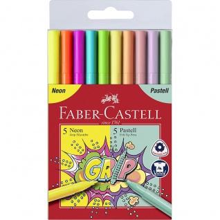 Faber Castell Colour Marker Filzstifte Grip Neon und Pastell
