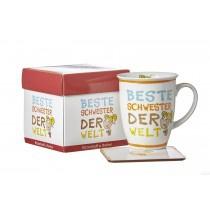 Ritzenhoff und Breker Kaffeebecher mit Geschenkebox Beste Schwester
