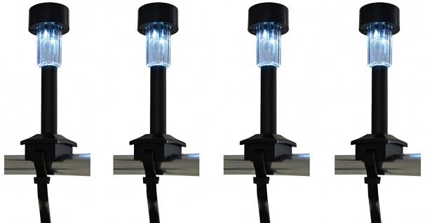 Naeve Leuchten LED Solar 4-er Set inklusive Befestigungsband schwarz