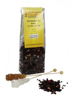 Sternzeichen Tee Krebs mit Kandiszucker Erdbeer Sahne Tee 100g
