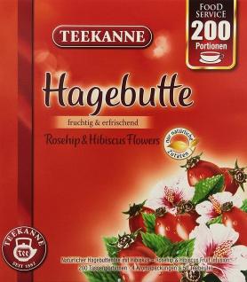 Teekanne Hagebutte fruchtig erfrischend mit Hibiskus 200 Portionen