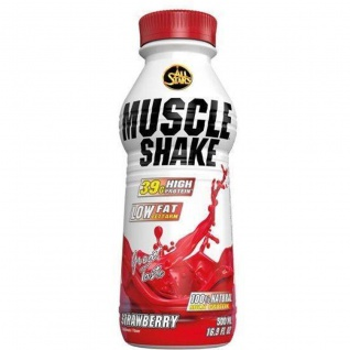 All Stars Muscle Shake Erdbeer Low Fat Protein Ready To Go 500ml