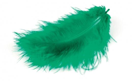 Meyco Marabu Federn in grün 17 Stück im Beutel circa 10 bis 12cm lang