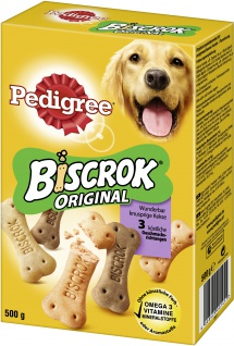 Pedigree Biscrok Original krosse Hundekekse in Knochenform 500g