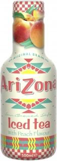 Arizona Eistee Pfirsich Erfrischungsgetränk Einwegflasche 500 ml