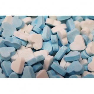 Blau Weisse Herzen fruchtig süsse Herzen mit Fruchtgeschmack 1000g
