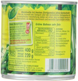 Bonduelle grüne Bohnen sehr fein , 12er Pack (12 x 220 g)