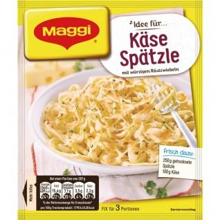 Maggi Fix für Käse Spätzle deftig mit würzigen Röstzwiebeln 35g