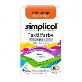 Simplicol Textilfarbe expert für kreatives Färben in India Orange