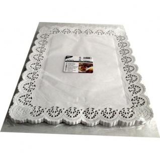 Spitzenpapier Papierdeckchen eckig weiß 40 cm von Papstar 100 Stück