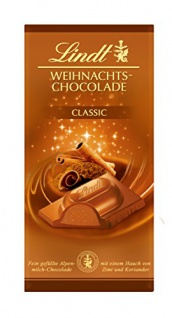 Lindt Weihnachts-Chocolade - 100g