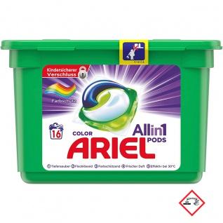 Ariel 3 in 1 Pods Colorwaschmittel Compact für 16 Waschladungen